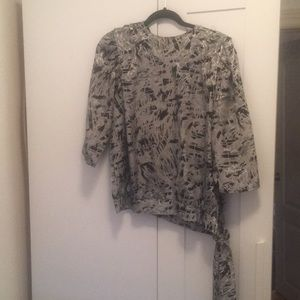 Vintage black and silver long sleeve top